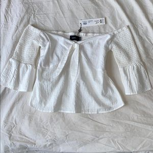 NWT MINKPINK white off the shoulder blouse